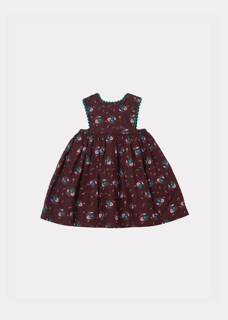 Kids Caramel Jupiter Baby Dress - Brown Thistle Print
