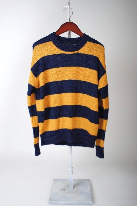 Nili Lotan Raiden Striped Crewneck sweater - Navy/Mustard