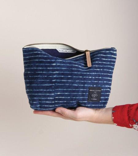 IMMODEST COTTON Immodest Cotton Sardine Pouch - Indigo Stripe