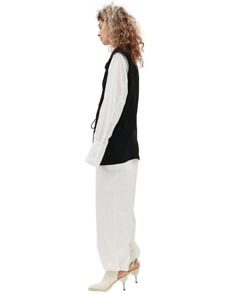 Y's Black Rayon Vest