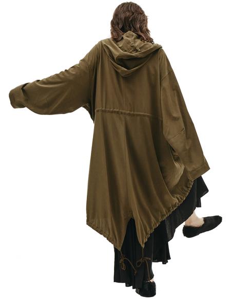 Y's Khaki Hooded Parka - khaki