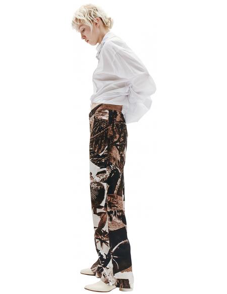 Y's Printed Brown Trousers
