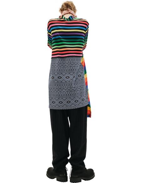 Comme des Garcons Homme plus Asymmetric Striped Cardigan