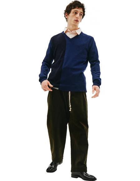 Maison Margiela Black & Navy Cashmere Sweater