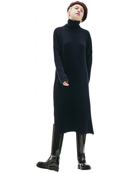 Y's Navy Knitted Dress