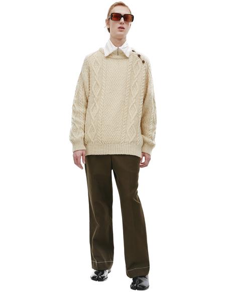Visvim Bollard Ivory Crew Knit