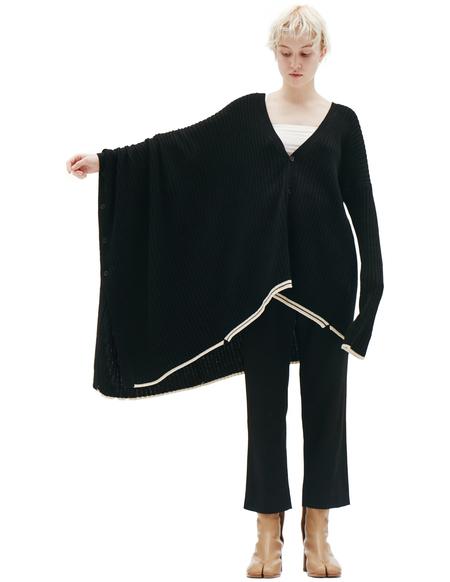 Y's Wool Unbalance Cardigan