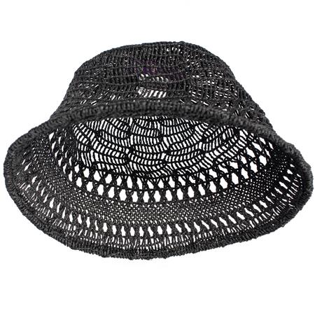 Y's Black Woven Bucket Hat