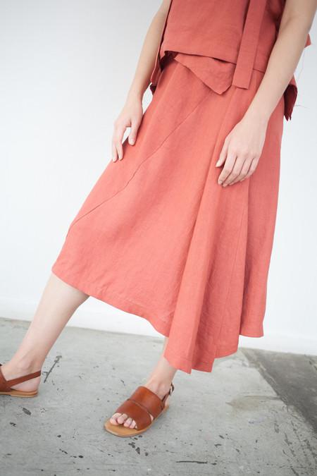 Luisa et la Luna Lotta Skirt in Red Linen