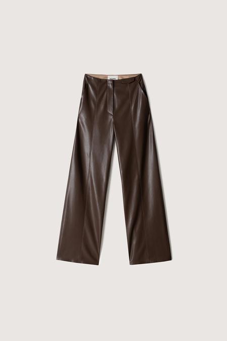 Nanushka Namas Vegan Leather Pant - Dark Brown