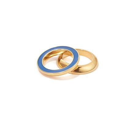 Jenny Bird Moti Ring - Brass