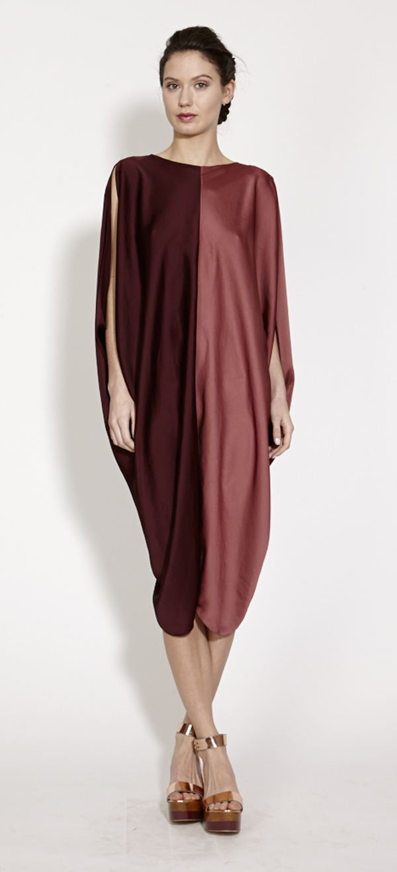 TiA CiBANi Two-tone billow dress