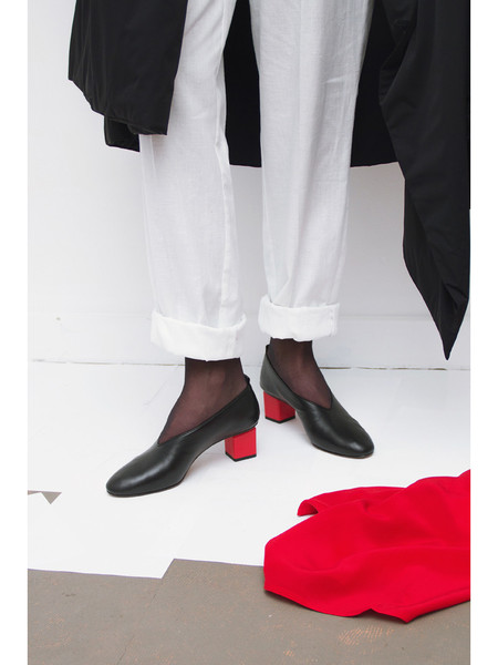 GRAY MATTERS Mildred, Black w/Red Heel