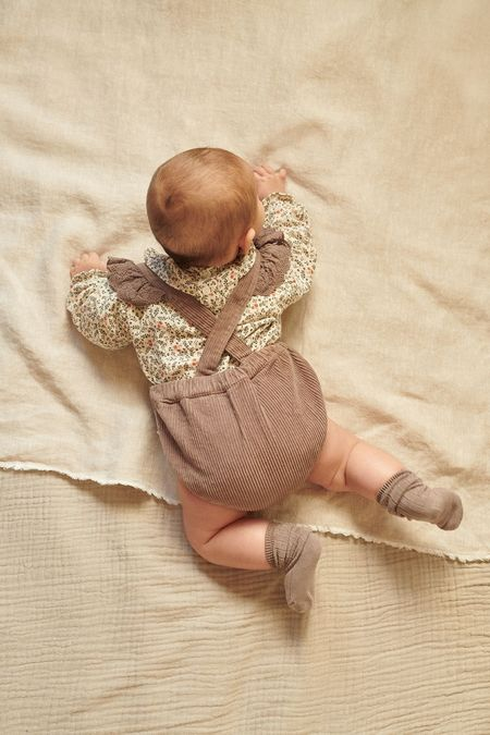 Kids My Little Cozmo Cris Bloomers with Suspenders - Taupe