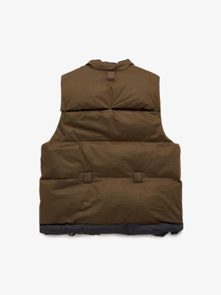 PRE-LOVED Ziggy Chen Khaki Quilted Zipped Vest - Khaki