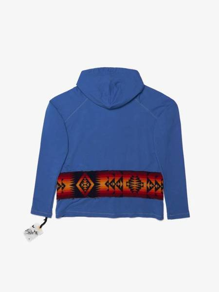 Greg Lauren Blue Navajo Hoodie SWEATER - BLUE
