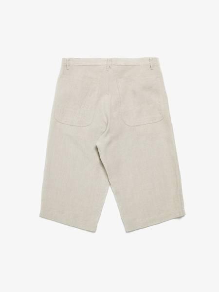 PRE-LOVED Comme Des Garcons Homme Plus Beige Linen Shorts - BEIGE