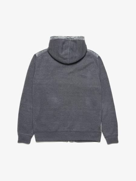 [Pre-Loved]  Ermenegildo Zegna Male Gray Zipped Cashmere Hoodie