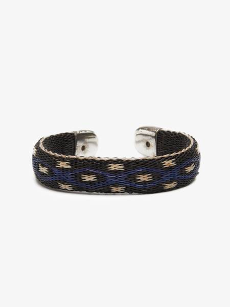 [Pre - Loved] Other Woven Bracelet - Navy / black with print