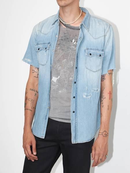 [Pre-Loved] Saint Laurent Paris Male Light Blue Denim Shirt