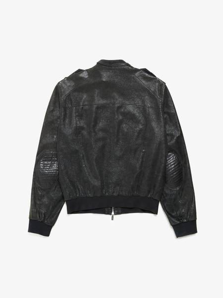 [Pre-Loved] Versace Male Black Zipped Leather Jacket