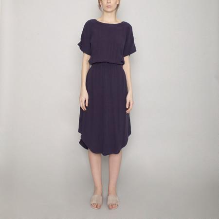 7115 by Szeki Reversible Drawstring Dress - Navy - SS17