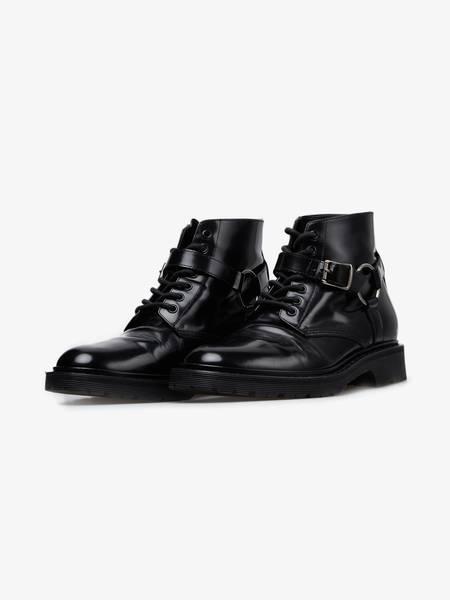 [Pre - Loved] Saint Laurent Paris Harness Combat Boots - Black