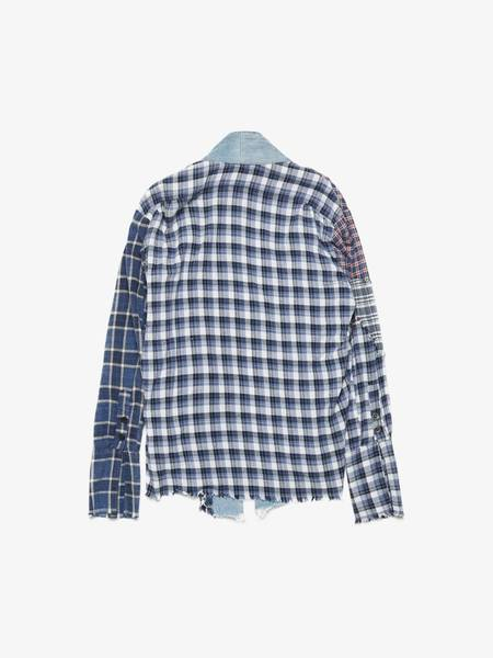 [Pre -Loved] Greg Lauren Checked Vintage Distressed Denim Cotton Kimono