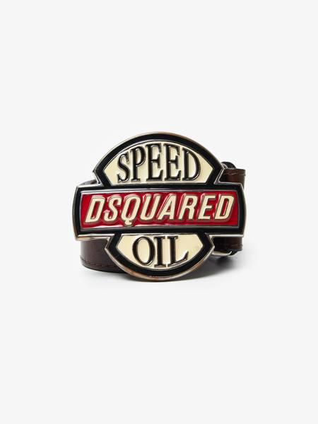 [Pre-Loved] Dsquared2 U Speed Oil Massive Buckle Belt