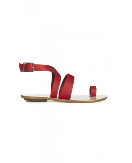 Tibi 'Halli' Satin Runway Sandals