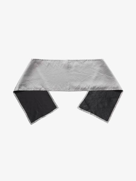 [Pre - Loved] Ann Demeulemeester U Silk Scarf - Black/Silver