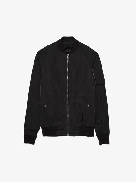 Rick Owens M Black Light Bomber Jacket