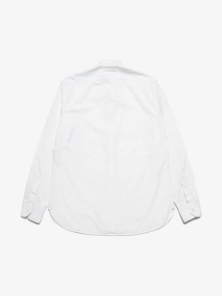 PRE-LOVED Saint Laurent Paris White Mandarin Collar Cotton Shirt - WHITE