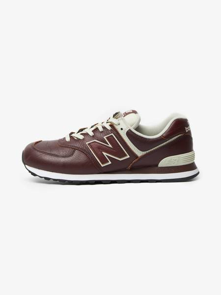 [Pre - Loved] New Balance Male ML574 Leather Sneakers - Burgundy