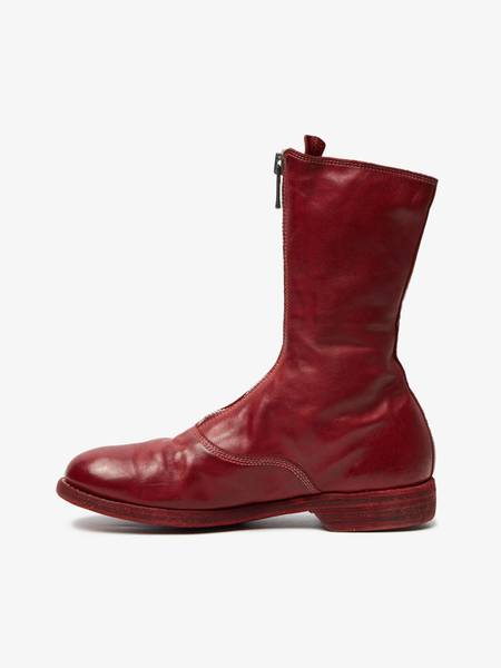 Pre-loved Guidi Horse Leather Front Zip Boots - red
