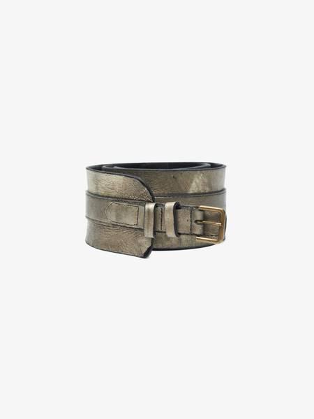 [Pre - Loved] Ann Demeulemeester Male Wide Glistening Belt