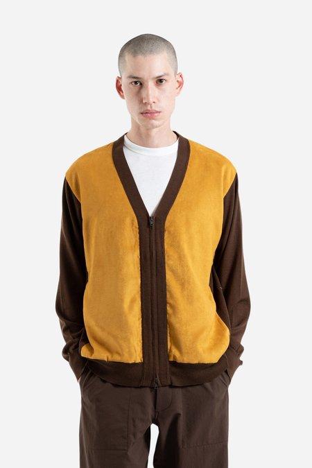 Nanamica Hybrid Cardigan - Brown/Gold