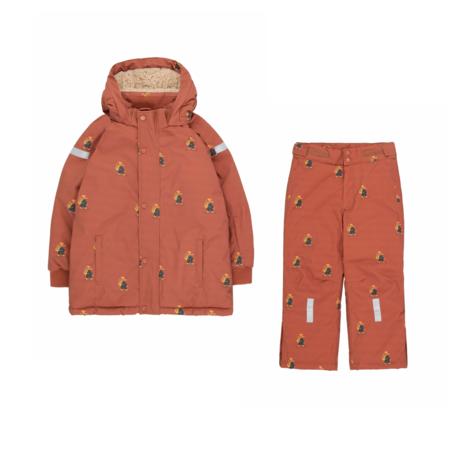 Kids Tinycottons Explorers Snow Jacket - Dark Copper