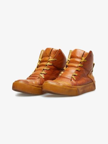 [Pre - Loved] Boris Bidjan Saberi BAMBA1 Horse Leather High Top Sneakers - Brown