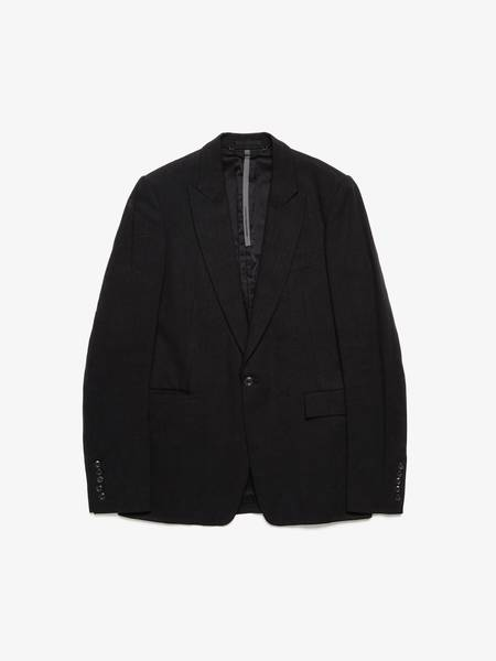 [Pre-Loved] Attachment Male Onebreasted metal buttoned linen blazer