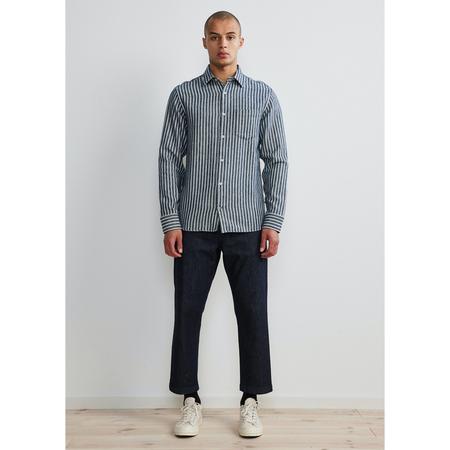 NN07 errico shirt - Navy Stripe