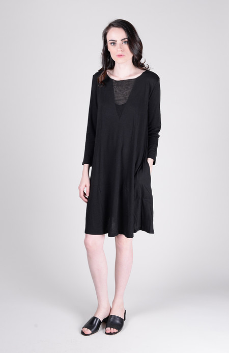 Raquel Allegra Signature Jersey 3/4 Sleeve Bell Dress