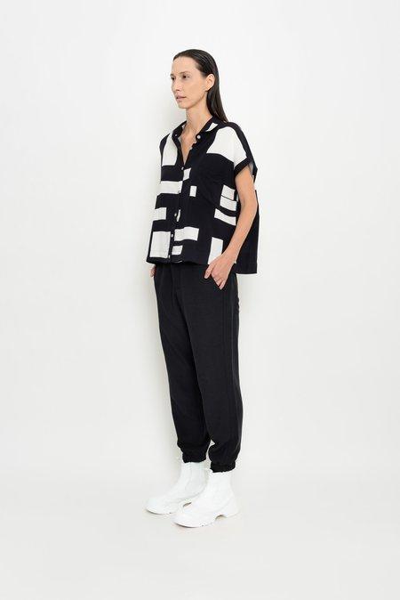 UMA Raquel Davidowicz Sabiá Short Sleeve Shirt - Geometric Print