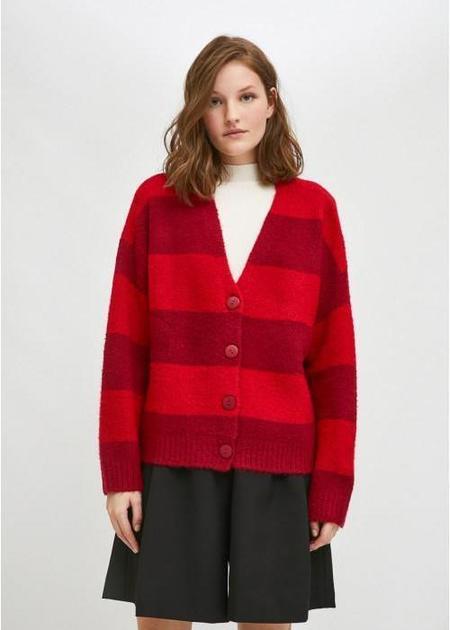 Compañia Fantastica Cardigan - Striped Burgundy