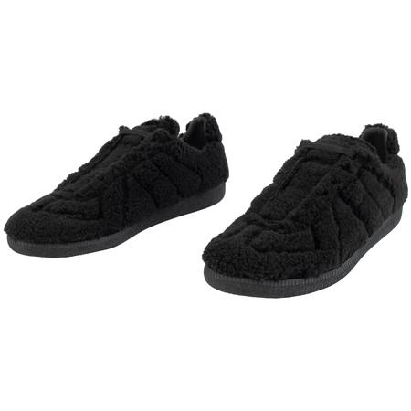 Maison Margiela Fleece Replica Sneaker - black
