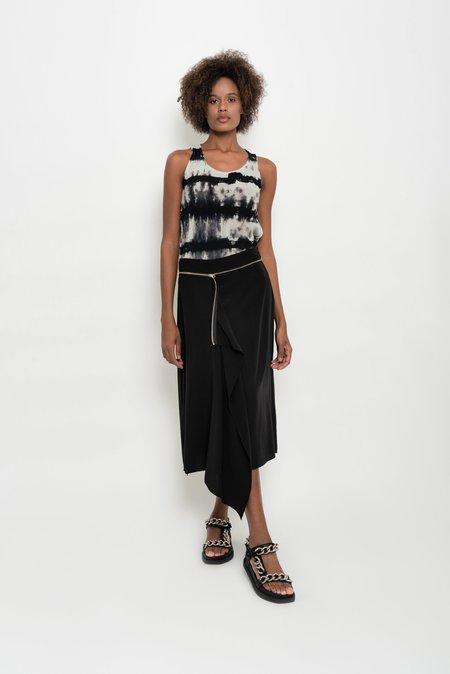 UMA Raquel Davidowicz Medusa Midi Skirt With Overlap