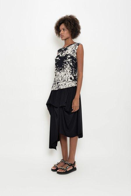 UMA Raquel Davidowicz Alfaiate Spattered Printed Sleevless Top