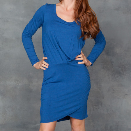 Bella Luxx Long Sleeve Fitted Lapis Dress