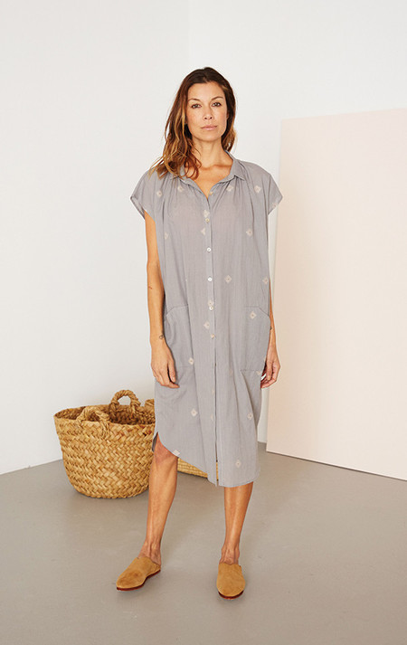 Two New York Gray handwoven pocket khadi dress