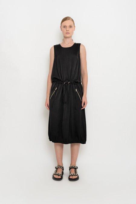 UMA Raquel Davidowicz Satin Sport Sleeveless Dress - Black